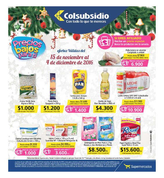 Ofertas de Supermercados Colsubsidio, Precios bajos para ti