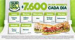 Ofertas de Subway, Sub del día y Costillas BBQ Melt