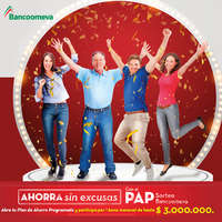 Ahorra con el PAP sorteo Bancoomeva