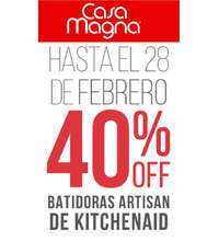40% Off Batidoras Artisan de Kitchenaid
