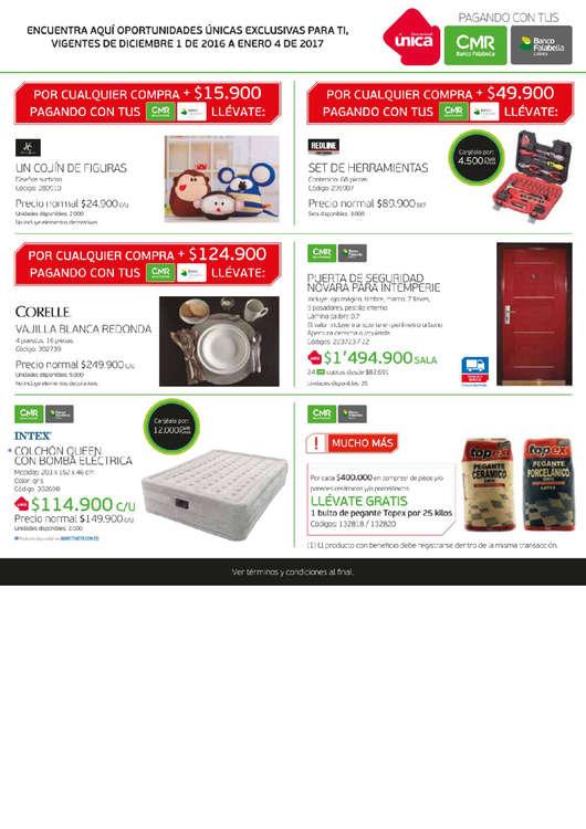 Ofertas de Banco Falabella, Catálogo Home Center - Vacaciones