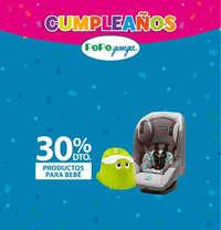 Cumpleaños Pepe Ganga - 30% de descuento en productos para bebés