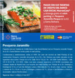 Ofertas de Banco Caja Social, Valet parking gratis en Pesquera Jaramillo