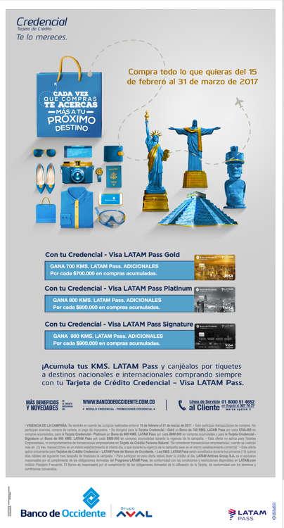 Ofertas de LAN, Compra todo lo que quieras del 15 de Febrero al 31 de Marzo de 2017