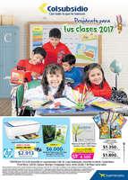 Ofertas de Supermercados Colsubsidio, Prepárate para tus clases 2017