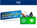 Ofertas de Tigo, Deslimítate y disfruta Whatsapp y Lines grtis por un año ¡Así no tengas saldo!