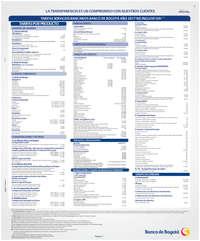 Tafiras de servicios bancarios a personas - 2017