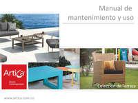 Manual de mantenimiento y uso - Colección de terraza