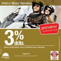 3% de descuento en motocicleta YAMAHA
