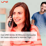 Ofertas de UNE, 30 minutos mensuales sin costo adiconal a móviles UNE