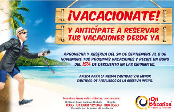 Ofertas de On Vacation, ¡Vacacionate!