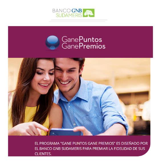 Ofertas de Banco GNB Sudameris, Gane Puntos Gane Premios