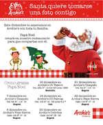 Ofertas de Archie's, Foto con Santa