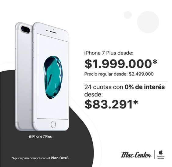 Ofertas de Mac Center, Iphone 7 plus