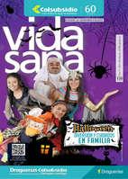 Ofertas de Droguería Colsubsidio, Revista Vida Sana - Halloween. Diversión y cuidados en familia