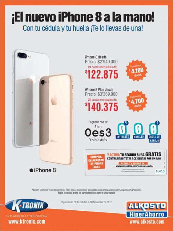 Ofertas de Alkosto, ¡El nuevo iPhone 8 a la mano!