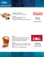 Ofertas de Droguerías Cafam, Convenios Gastronomía