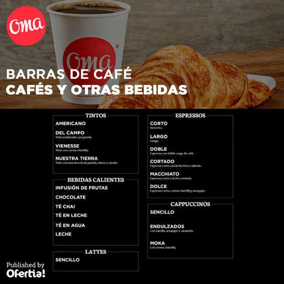Ofertas de Oma, Oma café