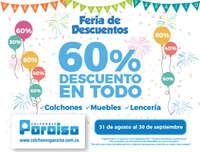 Feria de Descuentos 60%Descuento en todo