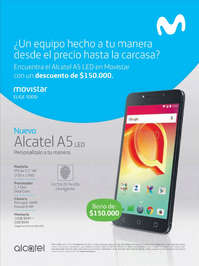 Encuentra el Alcatel A5 LED en Movistar