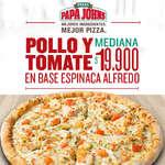 Ofertas de Papa John's, Pollo y tomate mediana en promoción