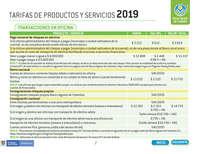 Tarifario 2019 Banco Agrario