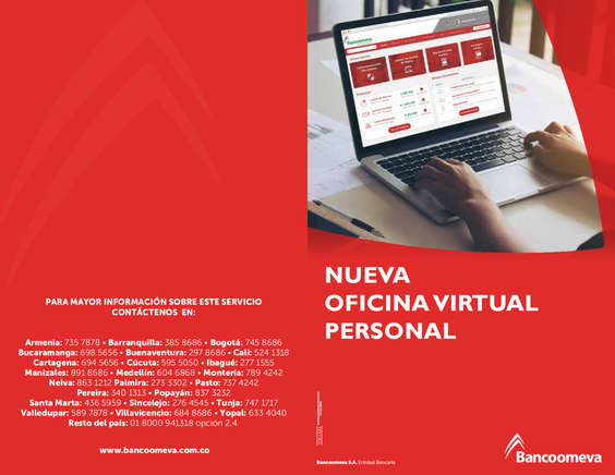 Ofertas de Bancoomeva, Manual Nueva Oficina Virtual
