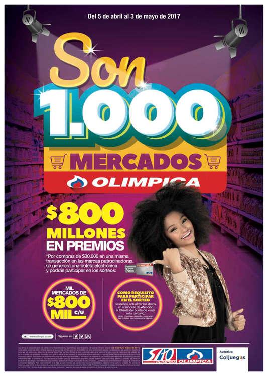 Ofertas de Super Almacenes Olímpica, Son 1000 mercados Olímpica - SAO