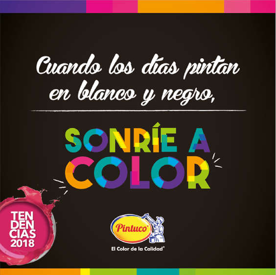 Ofertas de Pintuco, Tendencias 2018 - Sonríe a color