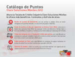 Ofertas de Colpatria, Catálogo de puntos - Claro soluciones móviles 2017