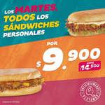 Ofertas de Sandwich Qbano, Promoción Martes