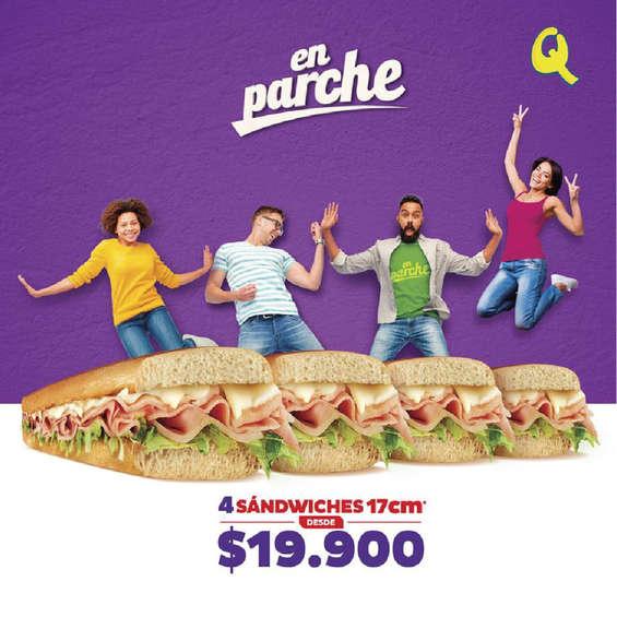 Ofertas de Sandwich Qbano, Promoción en parche