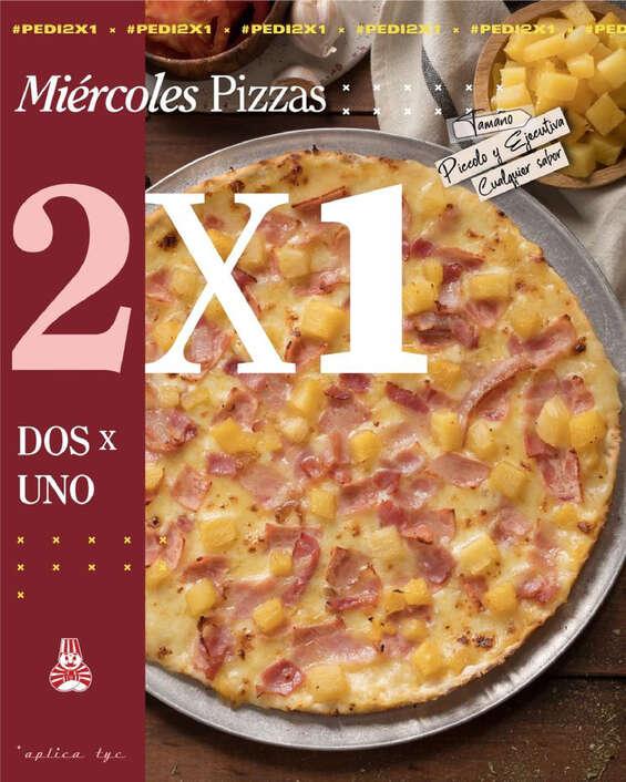Ofertas de Pizza Piccolo, Todos los miércoles