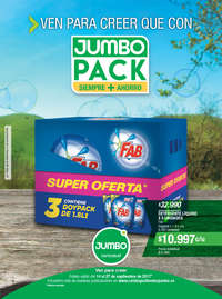 Ven para creer que con Jumbo Pack siempre + ahorro