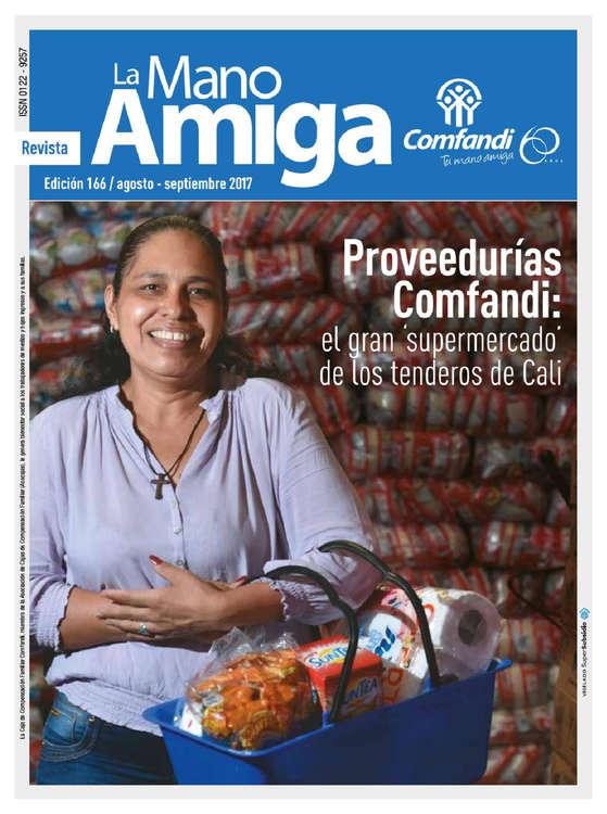 Ofertas de Droguería Comfandi, Revista La Mano Amiga Ed. 166 - Proveedurías Comfandi, el gran supermercado de los tenderos de Cali