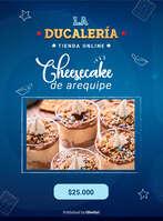 Ofertas de Ducales, Cheesecake de arequipe