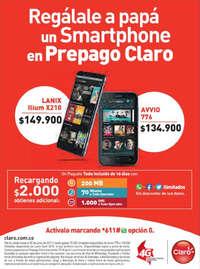 Regálale a papá un Smartphone en Prepago Claro