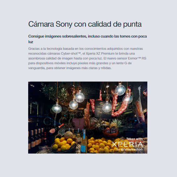 Ofertas de Sony, Sony_Xperia XZ Premium